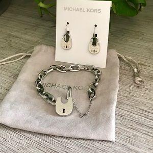 MK bundle of earrings & bracelet